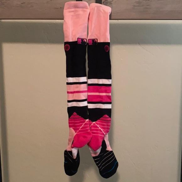 Pink Stance MLB Used Socks